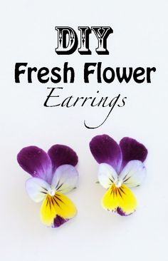 Bit Square Blog | Style, DIY, Refashioning, Jewellery: DIY Fresh Flower Earrings