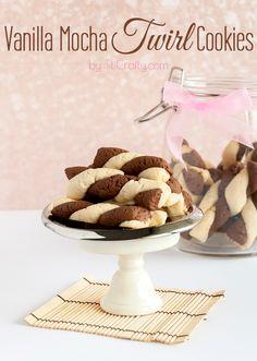 Vanilla Mocha Twirl Cookies, the perfect party cookie!    #Recipe #cookierecipe