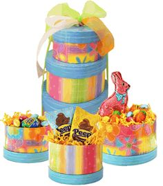 Easter Chocolate Candy Gift Tower