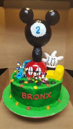 Mickey mouse club cake #3
