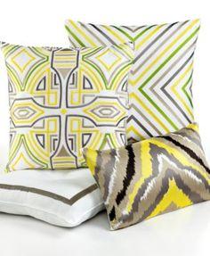 "Trina Turk Ikat Retro Design 20"" Square Decorative Pillow | macys.com"