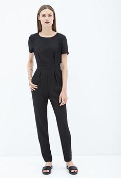 Short-Sleeved Crepe Jumpsuit   Forever 21 - 2000060088