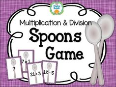 Remember the card game Spoons? Here's a version using multiplication & division facts. So fun!