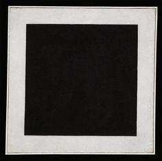 Kazimir Malevich - Black Square, [1913] 1923-29; Oil on canvas, 106.2 x 106.5 cm (41 3/4 x 41 7/8 in)