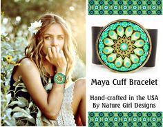 Bold & Beautiful, Bohemian Chic Cuff Bracelets by Nature Girl Designs  http://naturegirldesigns.com/Cuff_Bracelets.html