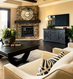 Corner Fireplace Designs | ... Gallery of the The Best Corner Fireplace Ideas You Can Find Out There