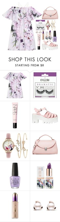 """Untitled #100"" by jayemie ❤ liked on Polyvore featuring eylure, NARS Cosmetics, Windsor Smith, INC International Concepts, The Cambridge Satchel Company, OPI, Teeez and tarte"