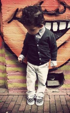 My grandson would look adorable in this !!!!! Love !!!!