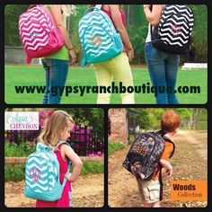 Chevron Back Pack with Monogramming
