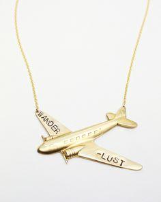 Wanderlust BIG Plane Necklace