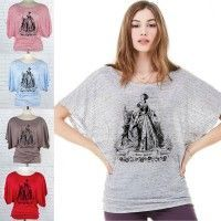 Queen Elizabeth I's mother, Anne Boleyn, on a Flowy Dolman T-shirt (The Anne Boleyn Files).