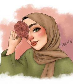 149 images about hijab art on We Heart It Hijab Anime, Anime Muslim, Disney Drawings, Cartoon Drawings, Cool Drawings, Drawing Faces, Girl Cartoon, Cartoon Art, Tmblr Girl