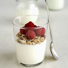 5 Energy-Boosting Snacks - 6 ounces of plain nonfat yogurt mixed with 1 tablespoon granola