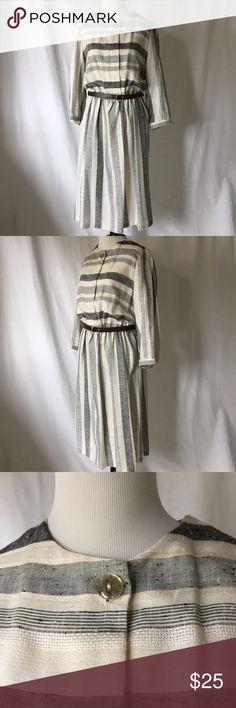 Selling this Vintage Studio 36 Stripe Dress on Poshmark! My username is: btflclths. #shopmycloset #poshmark #fashion #shopping #style #forsale #Vintage #Dresses & Skirts