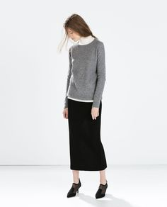 Image 1 of LONG SKIRT WITH SIDE SLIT from Zara