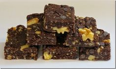 """Raw"" Brownies with Walnuts (Grain Free, Vegan, Sugar Free)"