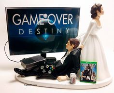 Game Over DEST Funny Custom Wedding Cake Topper Bride and Groom Xbox one/PS4 by TopShelfToppers on Etsy.     #Weddings #Decorations #CakeToppers #Funny #COD #Gamer #Cute #Grooms Cake #Topper #Custom #Wedding #Videogame #Xbox #PS4 #Game #Bride andGroom #Custom #Customcaketopper #Unique #Bride #Groom #Cake #Topper #Toppers