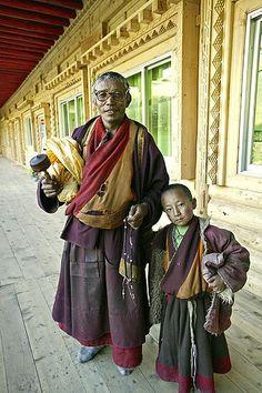 Uncle and nephew eastern Tibet 2004