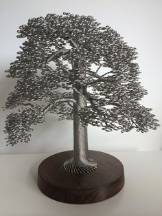 Tightly Wound Wire Tree Sculptures by Clive Maddison (8 pictures)