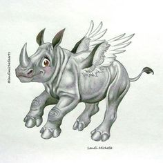 💕 White Rhino with wings by Landi-Michelle. Rhinos are amazing creatures but sadly all 5 species are now threatened with extinction due to illegal poaching.  #landimichellearts #rhinocharacterdesign #characterdesign #WorldRhinoDay #rhinoangel  #angel #savetherhinos  #rhino #rhinodrawing #whiterhino #illustration  #instagramrhino #rhinoofinstagram #unlimitedmoves