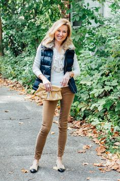 How To Wear Cords This Fall: Skinny cords are casual. Don't try to make them dressy. Great for everyday.