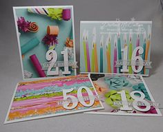 Birthday by the Numbers - Want fun and colorful personalized birthday cards that don't take a lot of time to make? Check out the Picture Perfect Party paper from Stampin' Up!