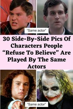 """30 Side-By-Side Pics Of Characters People """"Refuse To Believe"""" Are Played By The Same Actors Clean Funny Jokes, Lame Jokes, Terrible Jokes, Crazy Funny Memes, Love You Funny, Seriously Funny, I Love To Laugh, Really Funny, Funny Gags"""