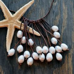 Pearl and Leather Necklace Jewelry Anemone. $245.00, via Etsy.