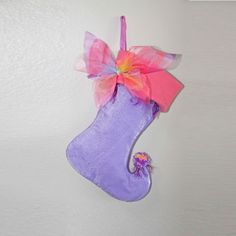 Fairy Christmas Stocking Salmon Shimmer by BelieveinMermaids