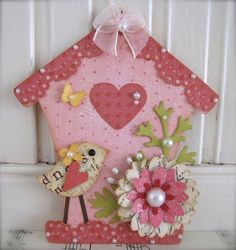 Vintage style Bird House Sweet n Cute Spring Bird by vsroses