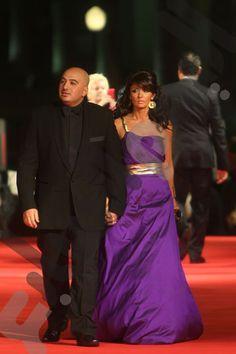 Egyptian actress Ghada Adel in a Malak El Ezzawy dress at the Cairo international Film Festival 2009