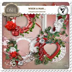 When a man... - Frames by Black Lady Designs : DSH: Digital Scrapbooking Hill - high quality CU and PU elements, exclusive products, kits, freebies and more...