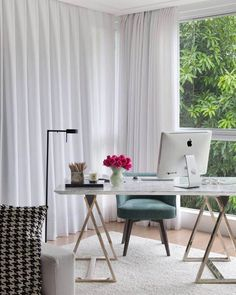 Home Office Silvia Braz Office Interior Design, Office Interiors, Furniture Plans, Kids Furniture, Home Office, Office Decor, Office Style, Silvia Braz, Theodora Home