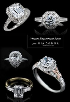 Vintage Engagement Rings from MiaDonna