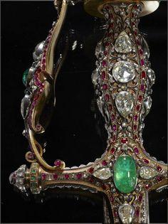 Antique weapon with diamonds