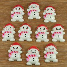 Bulk 10pcs Cute Snow Baby for X'mas Christmas by ResinFlatback, $5.00