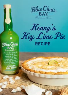 This key lime pie recipe uses Key Lime Rum Cream to make a sweet, tart, and creamy treat served in a delicious graham cracker crust. The perfect dessert to bring to holidays festivities. #bluechairbay #BCBHappyHour #keylimerumcream