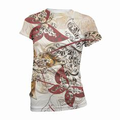 Butterfly Floral Graphic Print TShirt Top.  by InkandRags on Etsy, $29.00
