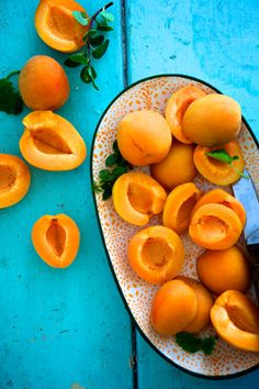 morning fruit peaches color healthy food