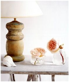 Peaches & Cream Interior Ideas - Bowling pins lamp, cotton reels