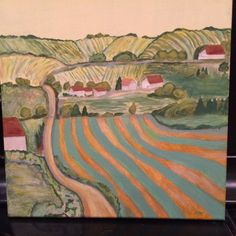 COUNTRY SUNSHINE an original acrylic painting by TheMarchOfTime