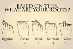 Well on foot I'm Egyptian and on the other I'm Roman. My roots are German so does this make me an Egyptian Roman German? Weird Facts, Fun Facts, That's Weird, Shape Of You, Things To Know, Fun Things, Mind Blown, Genealogy, Just In Case