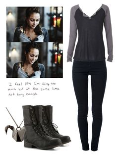 Raven Reyes - The 100 by shadyannon on Polyvore featuring polyvore fashion style STELLA McCARTNEY Madden Girl Origami Jewellery clothing