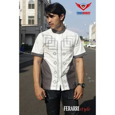 With embroiderry design . Available size S M L XL . Islamic Fashion, 100 Pure, Muslim, Button Down Shirt, Men Casual, Short Sleeves, Menswear, Pure Products, Mens Tops