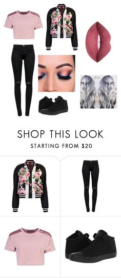 """Untitled #334"" by kassandraa-almanza on Polyvore featuring Dolce&Gabbana, J Brand, Boohoo and Converse"
