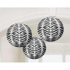 Zebra print paper lanterns