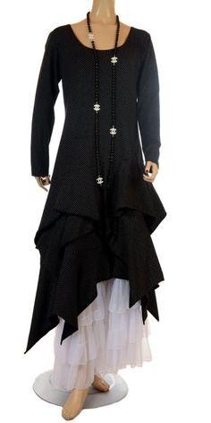 Idaretobe.com Lagenlook Black & White Dot Dress - Idaretobe.com from idaretobe.com UK