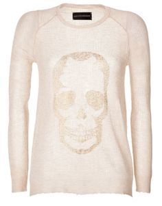 ZADIG & VOLTAIRE Cashmere Pullover >> My kind of skull.