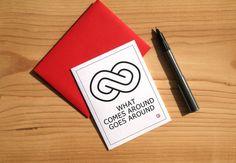 Karma Card  Greeting Card  Invitation  Thank You Card by Sabastica