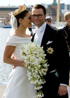 Crown Princess Victoria of Sweden weds Daniel Westling